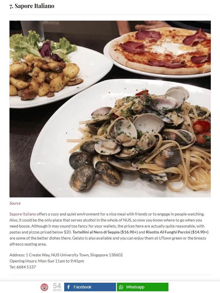 A web review on 3 dishes - Pizza, pasta and potatoes and mushroom starters